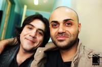حامی و مانی رهنما در موسسه محک (برای بزرگنمایی تصویر کلیک کنید)