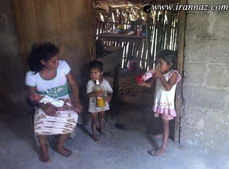 زایمان دردناک این خانم بروی چمن (عکس)