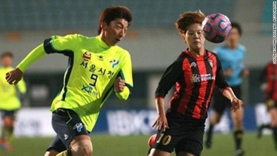 دردسر ساز شدن چهره مردانه بازیکن زن تیم فوتبال کره جنوبی
