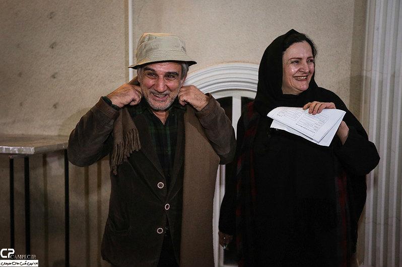 مهدی هاشمی و همسرش گلاب آدینه