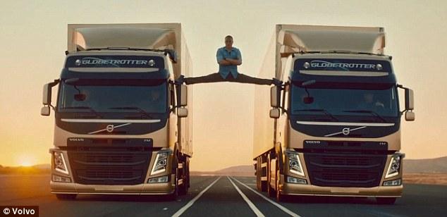 تصاویری جالب از ژان کلود ون دام در تبلیغ ولوو !