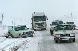 برف و باران در جادههای شرق و شمال