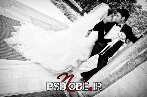 ژست عکس عروس فیگور عروس داماد