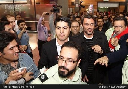 عکس های استقبال از میلانی ها در فرودگاه امام خمینی