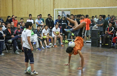 مسابقات جذاب فوتبال نمایشی + عکس