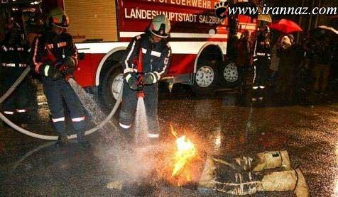 این فرد در کمال بی رحمی همسرش را آتش زد + تصویر