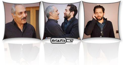 عکسهای دیدار مهران مدیری و بهرام رادان با یکدیگر پس از ۲ سال