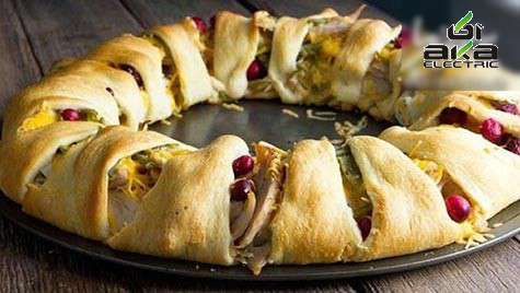 حلقه نان شکم پر واقعاً خوشمزه کریسمس-آکا