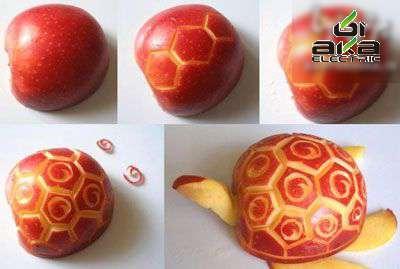 خوراکی های تزئینی؛ این بار سیب خوراکی های تزئینی,سیب,آشپزی