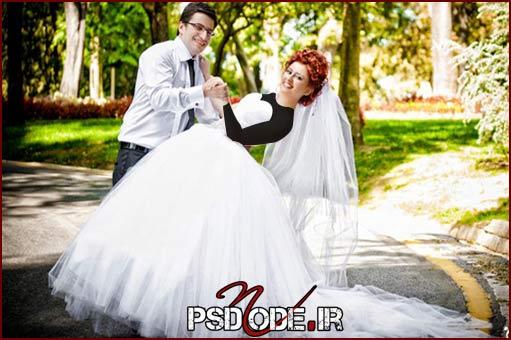 عروس وداماد ژست عروس و داماد