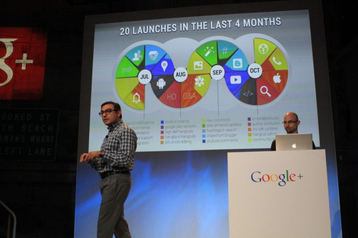 IMG 1881 730x486 Two years later, Google+ is growing, with 540m active users worldwide, 1.5b photos uploaded each week