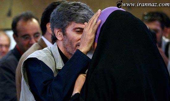 بوسه ی عاشقانه این زن بر دستان شوهرش + تصویر