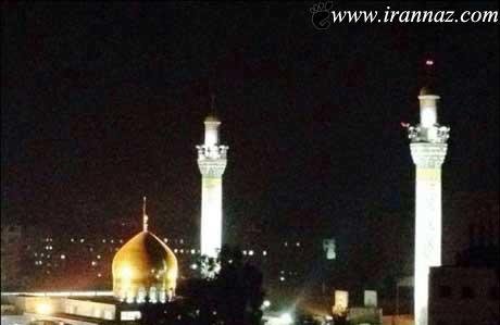 روشن شدن ناگهانی حرم حضرت زینب (ع) + تصویر