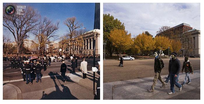 تصاویری تاریخی از محل ترور جان اف کندی