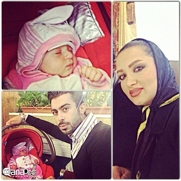 عکس / روناک یونسی و همسرش محسن میری و فرزندشان