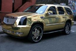 خودرو طلایی بازیکن فوتبال+تصویر