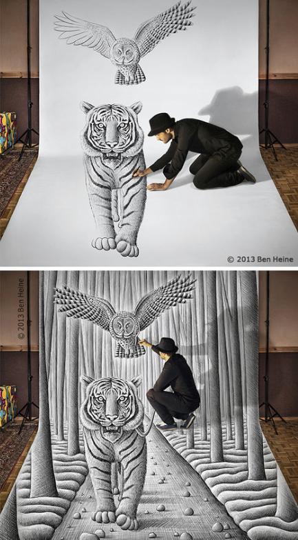 نقاشی های دیدنی و زیبای هنرمند بلژیکی
