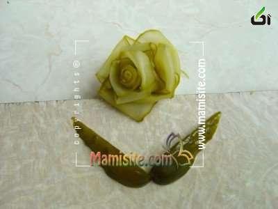 خیارشور, تزئین خیارشور, تزئین خیارشور به شکل گل