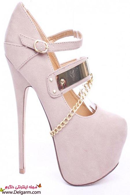 کفش های پاشنه بلند زنجیردار