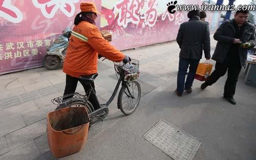 زن میلیارد و حرکتی عجیب در خیابان ! + تصاویر