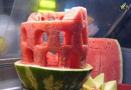 تزیین هندوانه یلدا, تزیینات هندوانه, هندوانه شب یلدا