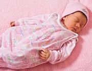 خوابیدن کودک به پشت