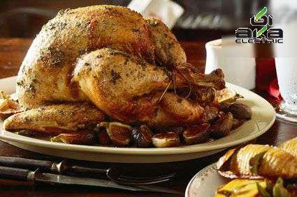 دو غذای مخصوص شب کریسمس کریسمس,بوقلمون بریانی,آشپزی