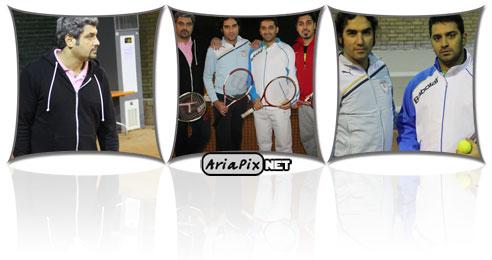 عکس های تمرین تیم تنیس هنرمندان
