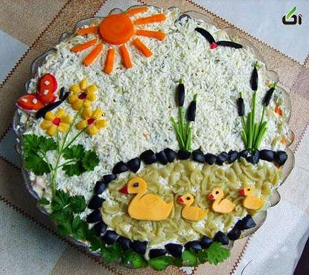 تزئین سالاد الویه ۹ – طرز تهیه