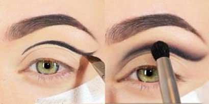 آموزش تصویری آرایش چشم با سایه فیروزه ای!!