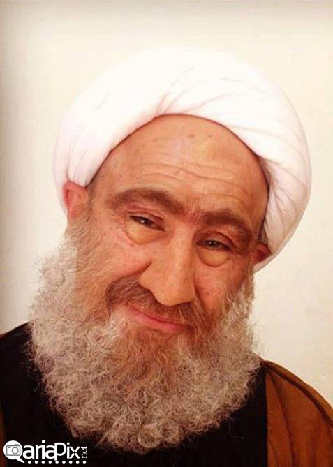 گریم حرفه ای محسن تنابنده در سریال شاهگوش ! در نقش روحانی