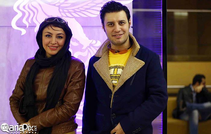عکس / جواد عزتی (بازیگر) و همسرش مه لقا باقری