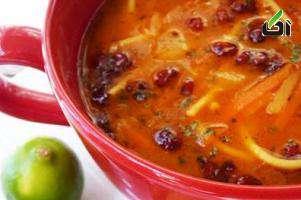 سوپ, انواع سوپ, سوپ زرشک