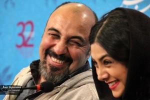 عکسی جالب از رضا عطاران و آزاده صمدی در حاشیه جشنواره فیلم فجر