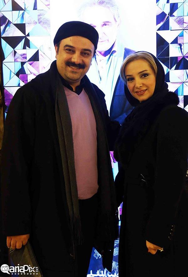 عکس / برزو ارجمند ( بازیگر مرد ایرانی ) و همسرش