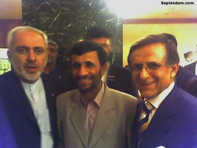 احمدی نژاد و ظریف دوستان سابق + عکس