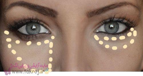 ترفند کوچک کردن بینی و محو کردن سیاهی زیر چشم