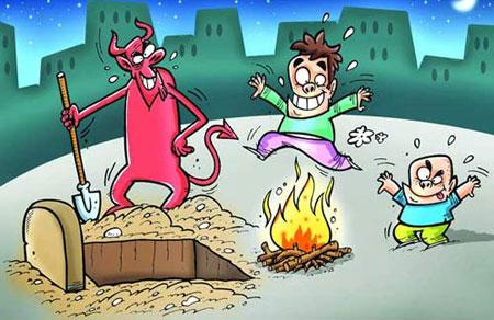 کاریکاتور چهارشنبه سوری – خنده دار