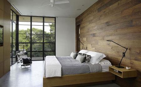 دکوراسیون مدرن با دیوار های چوبی