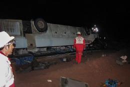 واژگونی مرگبار اتوبوس در بزرگراه آزادگان