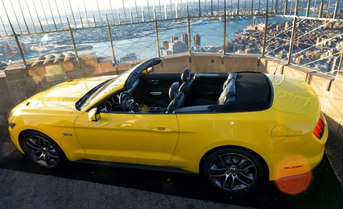 Ford Mustang Convertible top the empire state building