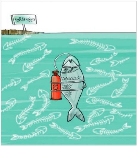 کاریکاتور/ سبب مرگ ماهیها در فشافویه!