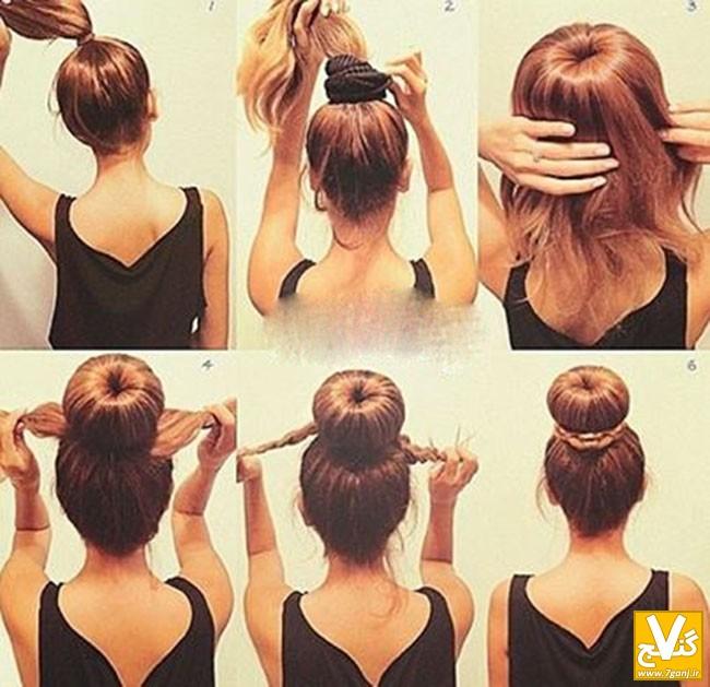 آموزش تصویری ۳ مدل شینیون موی بسیار زیبا و راحت