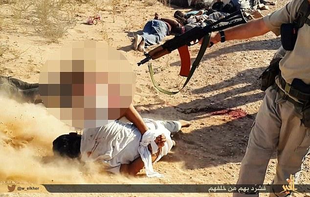 1x1.trans خنده و قهقهه جوخه مرگ تروریست های داعش بر سر اجساد +عکس