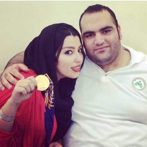 مدال طلای بهداد سلیمی به همسرش آلما رسید + تصاویر