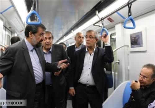 محسن رضایی 1 محسن رضایی در مترو +عکس