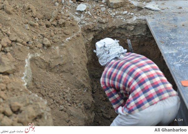 تصاویر محل دفن مرتضی پاشایی در بهشت زهرا