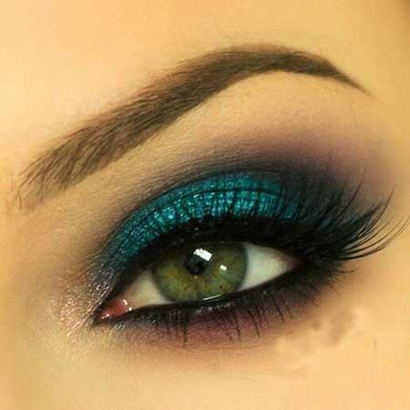 عکس از مدل آرایش چشم ویژه فصل پاییز