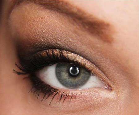 مدل آرایش چشم فصل پاییز