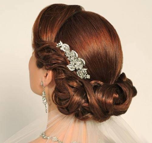 vakonesh.com   6a97f435a681e25c67789028cc618985 تصاویری از مدل شینیون عروس با تم جدید